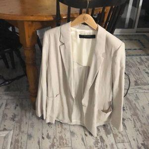 Zara collection khaki blazer